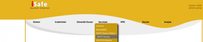 Servisler-dhcp-sunucu-link